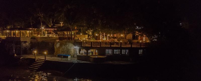 Magic Island Dive Resort by night